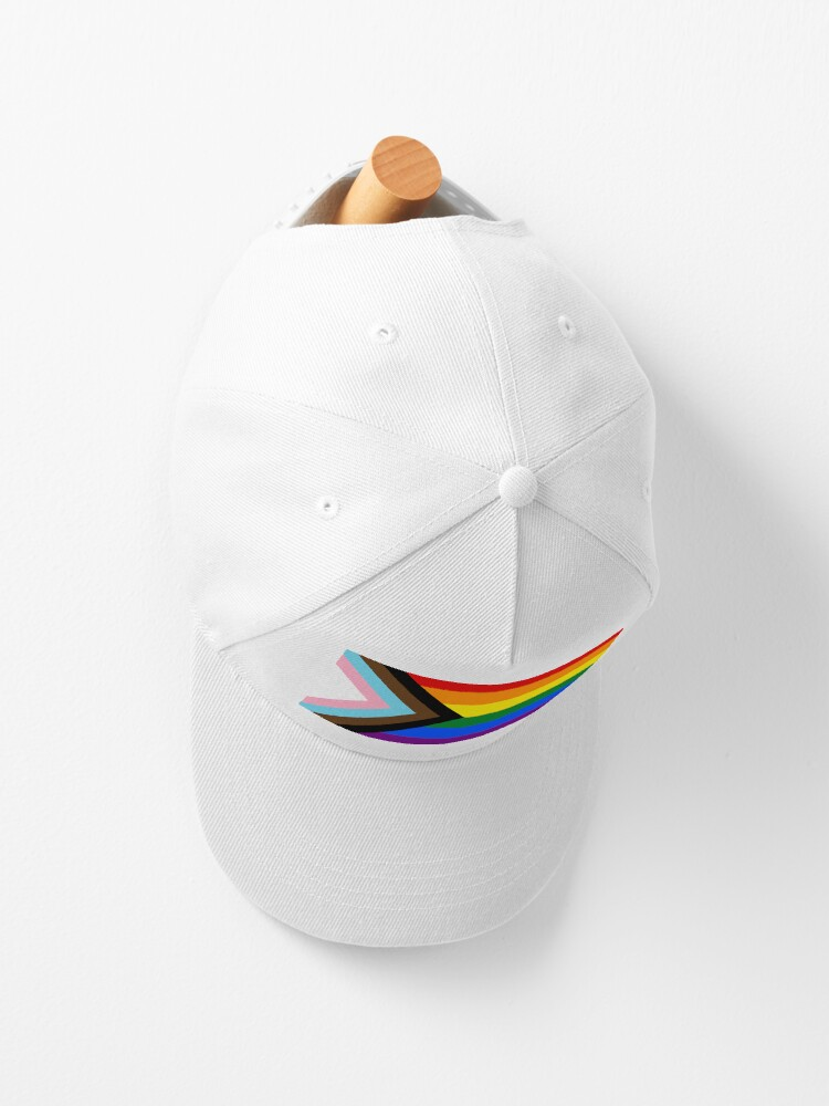 Alternate view of Progress Pride flag design Cap