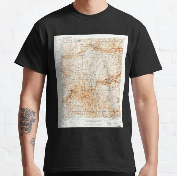 USGS TOPO Map California CA Yosemite 302106 1909 125000 geo Classic T-Shirt