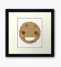 Cookie Emoji Happy Smiling Face Framed Print