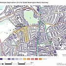 Multiple Deprivation Stoke Newington ward, Hackney by ianturton