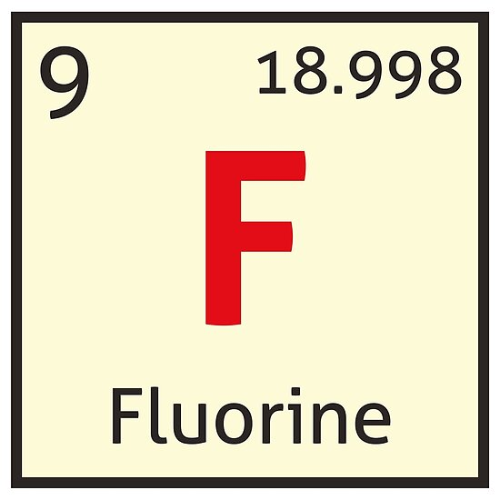 The periodic table fluorine posters by destinysagent redbubble the periodic table fluorine by destinysagent urtaz Images