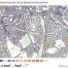 Multiple Deprivation Telegraph Hill ward, Lewisham by ianturton