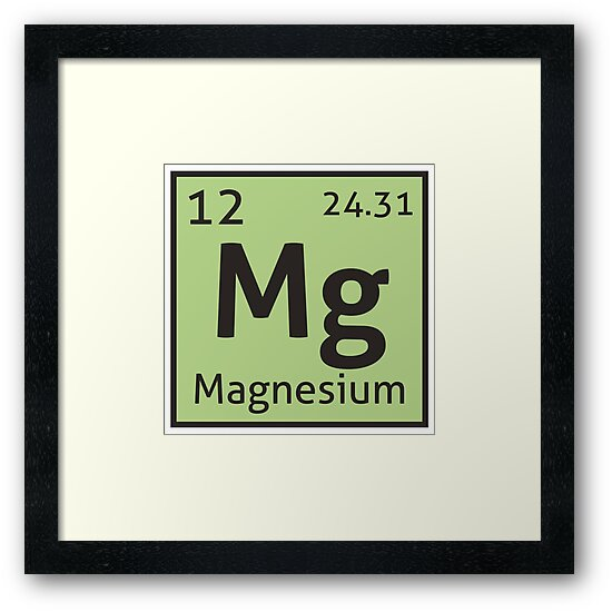 The periodic table magnesium framed prints by destinysagent the periodic table magnesium by destinysagent urtaz Images