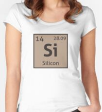 The Periodic Table - Silicon Women's Fitted Scoop T-Shirt