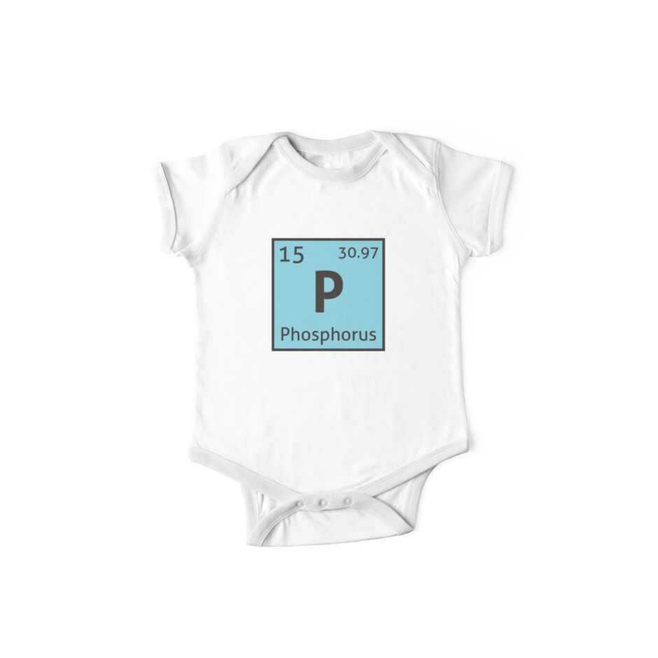 The periodic table phosphorus one piece short sleeve by the periodic table phosphorus gamestrikefo Image collections