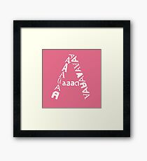 found letters - A Framed Print