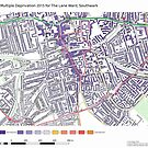 Multiple Deprivation The Lane ward, Southwark by ianturton