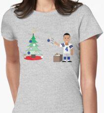 QB Christmas (Dak) Women's Fitted T-Shirt