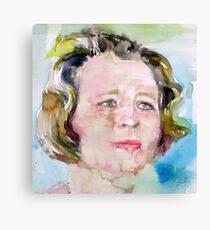 EDNA ST. VINCENT MILLAY - watercolor portrait Canvas Print