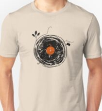 Camiseta ajustada Enchanting Vinyl Records Vintage