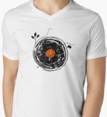 Enchanting Vinyl Records Vintage Men's V-Neck T-Shirt