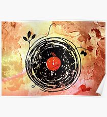 Enchanting Vinyl Records Vintage Poster