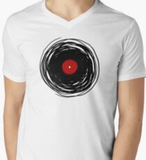 Spinning within with a vinyl record... Men's V-Neck T-Shirt