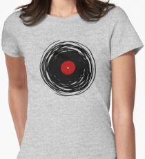 Spinning within with a vinyl record... Womens Fitted T-Shirt