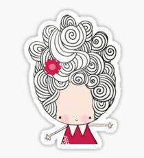 Big hair Bertha Sticker
