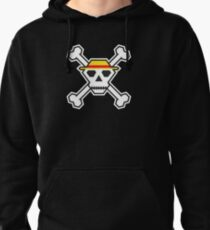 Custom Minimal Pirate Flag (The Straw Hats) Pullover Hoodie
