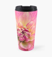 Beautiful Pink Dahlia Flower Travel Mug