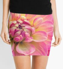 Beautiful Pink Dahlia Flower Mini Skirt