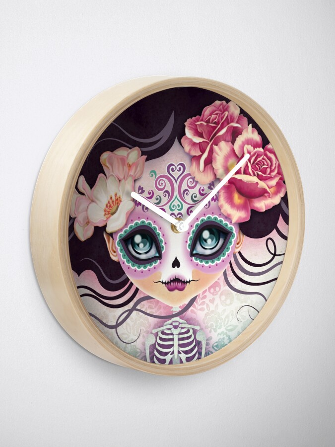 Alternate view of Camila Huesitos - Sugar Skull Clock