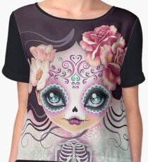 Camila Huesitos - Sugar Skull Chiffon Top