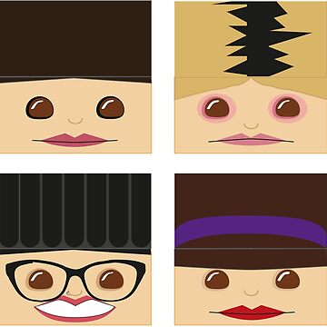 Orphan Black faces by lezcopines