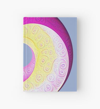 #DeepDream Color Circles Visual Areas 5x5K v1448901772 Hardcover Journal