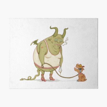 A demon and his dog... Art Board Print