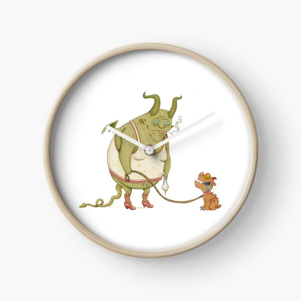 A demon and his dog... Clock