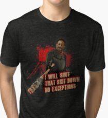 Negan Walking Dead Tri-blend T-Shirt