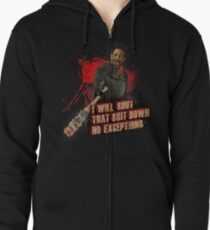 Negan Walking Dead Zipped Hoodie