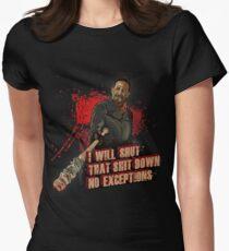 Negan Walking Dead Womens Fitted T-Shirt