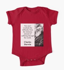 Nor Can I Overlook - Charles Darwin One Piece - Short Sleeve