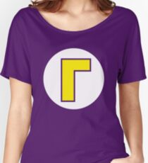 Waluigi Emblem Women's Relaxed Fit T-Shirt