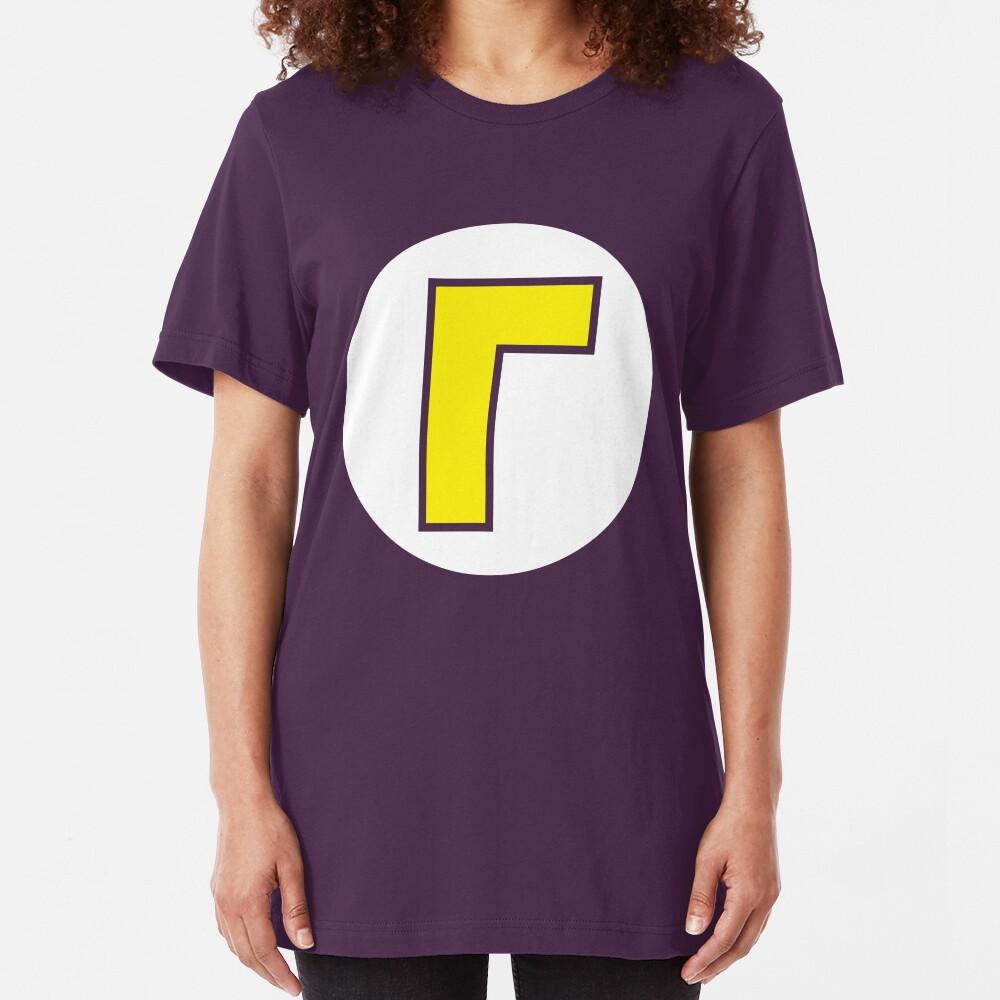Waluigi Emblem Slim Fit T-Shirt