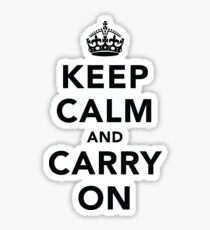 Keep Calm and Carry On - Light Sticker