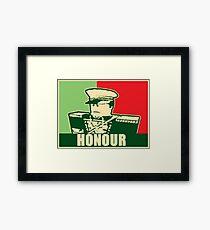 "Mex ""Honour"" slogan Framed Print"