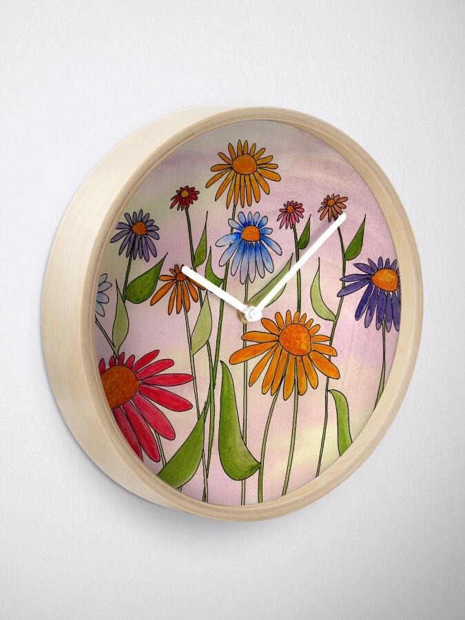 Alternate view of Daisy Bouquet Clock