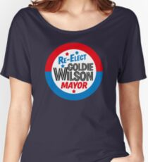 Back to the Future 'Re-Elect Mayor Goldie Wilson' design Women's Relaxed Fit T-Shirt
