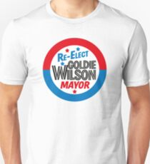 Back to the Future 'Re-Elect Mayor Goldie Wilson' design T-Shirt