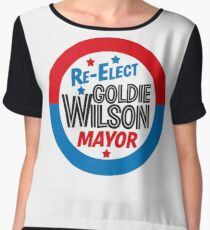 Back to the Future 'Re-Elect Mayor Goldie Wilson' design Chiffon Top