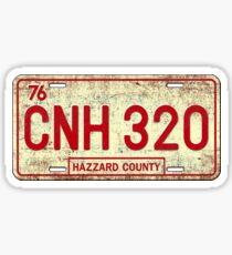 Dukes of Hazzard - General Lee License Plate Sticker