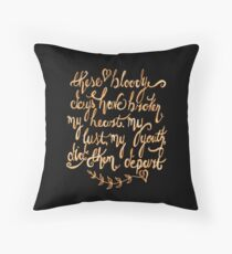 These Bloody Days Have Broken My Heart by Thomas Wyatt Throw Pillow