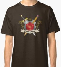 Game Master Red d20 Crest Classic T-Shirt