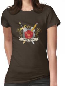 Game Master Red d20 Crest Womens Fitted T-Shirt