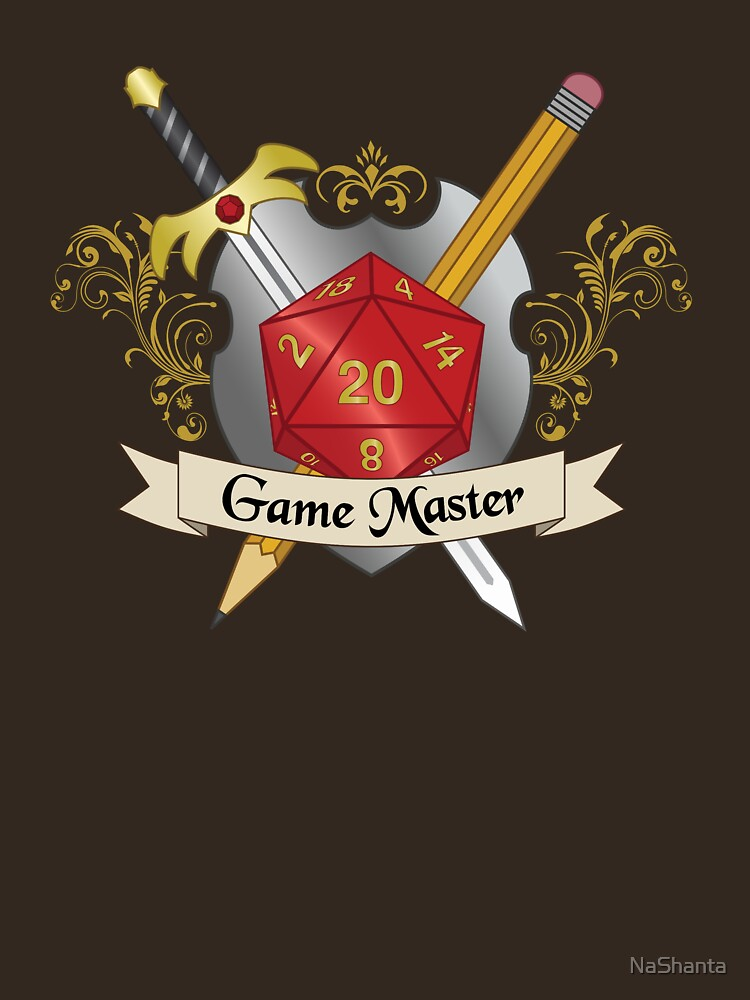 Game Master Red d20 Crest | Unisex T-Shirt
