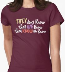 Friends - they dont know that we know they know we know Womens Fitted T-Shirt