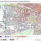 Multiple Deprivation West Putney ward, Wandsworth by ianturton