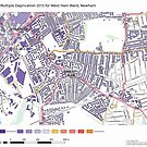 Multiple Deprivation West Ham ward, Newham by ianturton