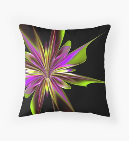 Purple Splash Throw Pillow