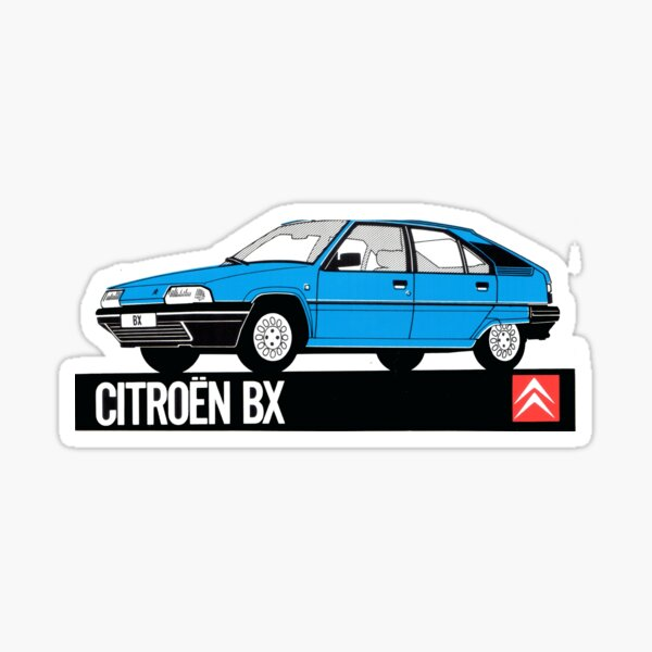 Autocollant Vintage Citroen BX Dealer Sticker